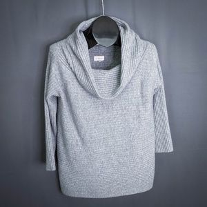 Lou & Grey Womens Sweater Size Medium Gray Ribbed